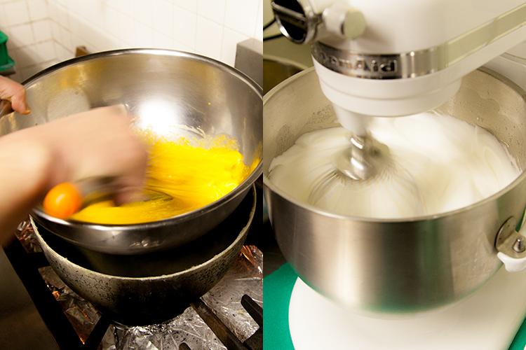 卵を混ぜる